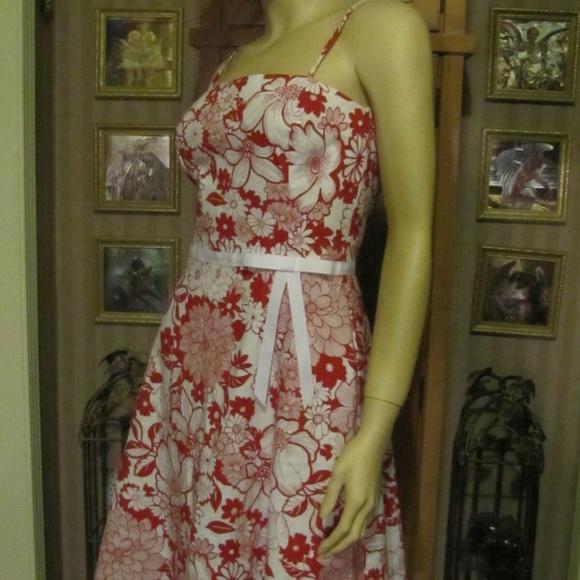 I.N. San Francisco Dresses & Skirts - I.N. San Francisco Red & White Floral Dress 5